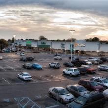 photo of line of shops at hilltop